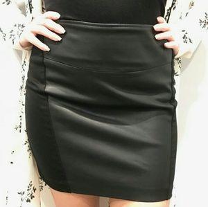 Faux Leather & Fabric BB Dakota Mini skirt